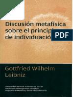 Principio de Individuación Leibniz