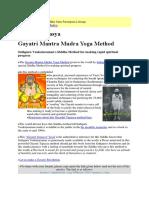 Gayatri Mantra Mudra
