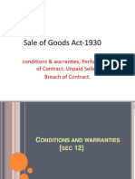 Sale of Goods Act-1930