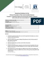 AIC Health Leadership Program Application Form Dec 2017