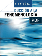 Patocka (2005). Introduccion a La Fenomenologia