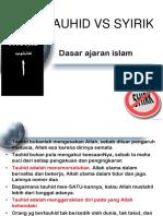 Tauhid vs Syirik