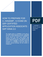 How to Prepare for C_HANAIMP_13 Exam on SAP Certified Application Associate - SAP HANA 2.0
