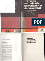 Técnicas Investigación Documental