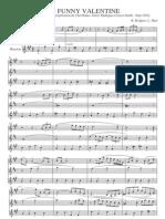 My Funny Valentine Trio - Score  (Trio - ATB)