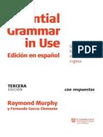 Essencial Grammar in Use Edicion Español