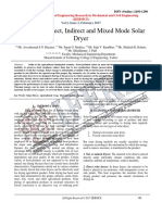 Review on Direct, Indirect and Mixed Mode Solar Dryer