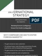 Chapter 7 International Strategy