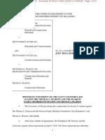 Pearson Family Foundation v. University of Chicago Counterclaim
