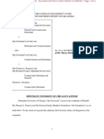 Pearson Family Foundation v. University of Chicago UChicago Response