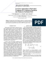 A Comparison of Two Approaches to Derivation of Boundary Conditions for