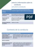Registro de Control e Información Sobre La Conducta