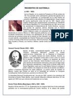 Historial de Presidentes en Guatemala