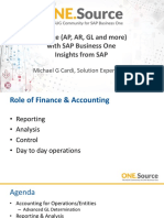 SAP Business One Finance Insights From SAP