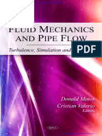 Fluid Mechanics and Pipe Flow Turbulence, Simulation and Dynami- By Easyengineering.net