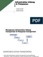 Manajemen Infrastruktur Bidang Transportasi & Pelayanan Transportasi