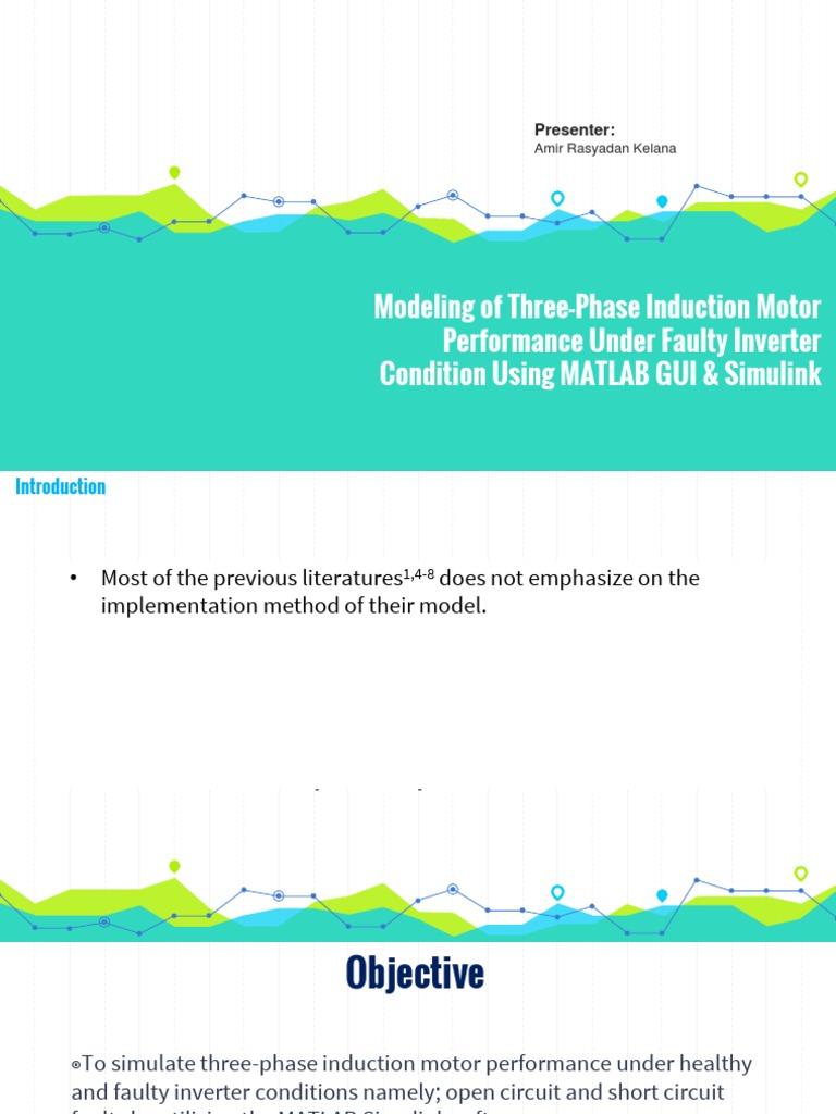 Modeling of Three-Phase Induction Motor Inverter Fault Using