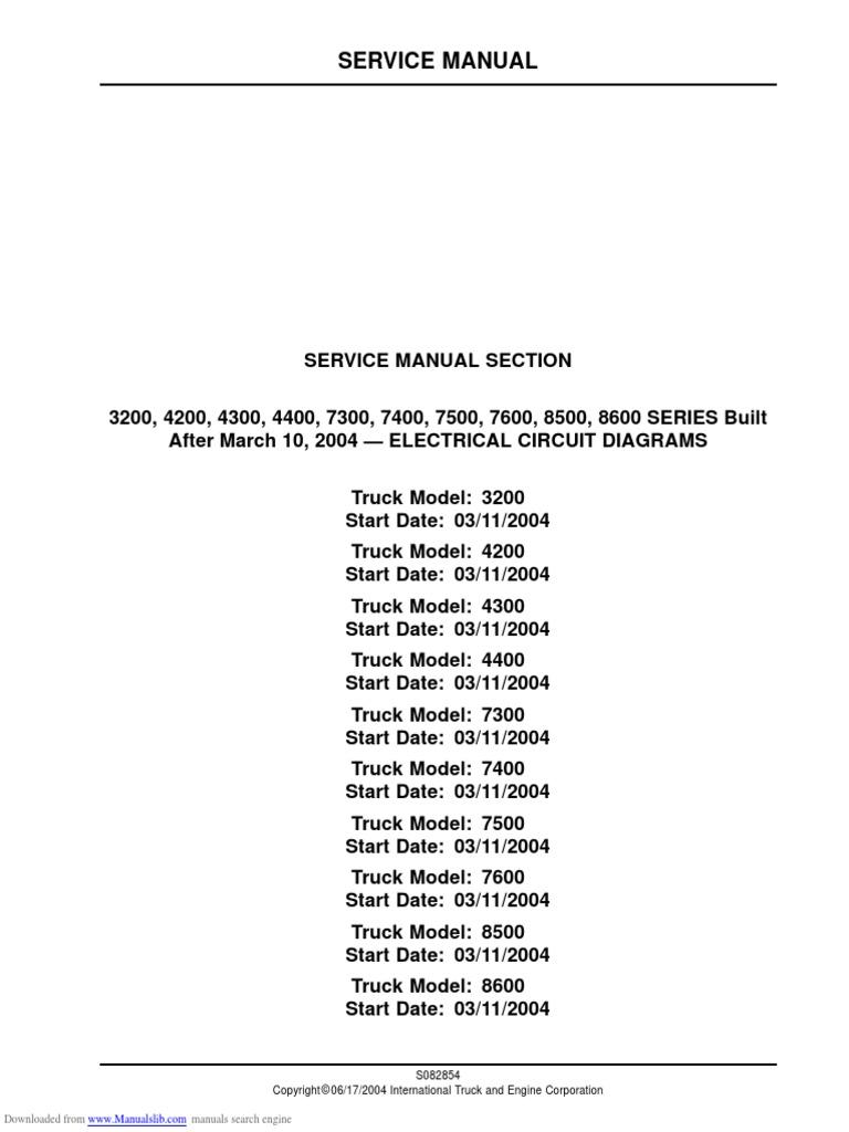 International 4300 Pdf Service Manual