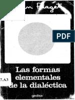 PIAGET, Jean, Las Formas Elementales de La Dialéctica
