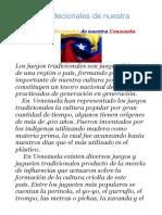 1.- Juegos Tradecionales de Nuestra Venezuela
