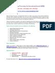 Signal Image Processing an International Journal SIPIJ