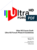 Ultra HD Forum Phase B Guidelines v1.0