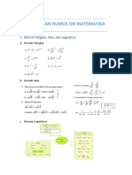 Kumpulan Rumus Un Matematika