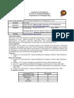 CE301 Course Syllabus Fall 2015