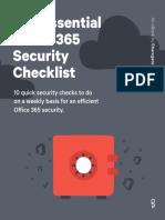 The Essential o 65 Security Checklist
