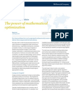 777284 - The Power of Mathematical Optimization - July-August 2010 Knowledge Bulletin
