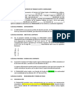 Modelo de Contrato de Trabajo Por Inicio de Actividad 2015-2017