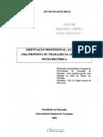 Bock 2001 - Proposta de OP Socio-historica - Cap Dissert