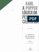 Livro Karl Popper - A Logica Da Pesquisa Cientifica