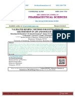 VALIDATED RP-HPLC METHOD FOR ESTIMATION OF GRANISETRON IN API AND DOSAGE FORM
