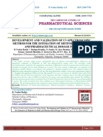 DEVELOPMENT AND VALIDATION OF UV-SPECTROSCOPIC METHOD FOR THE ESTIMATION OF METFORMIN IN BULK AND PHARMACEUTICAL DOSAGE FORM
