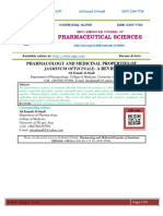 PHARMACOLOGY AND MEDICINAL PROPERTIES OF JASMINUM OFFICINALE- A REVIEW