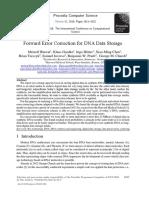 Forward Error Correction for DNA Data Storage