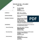 UB Human Physiology Syllabus 2012