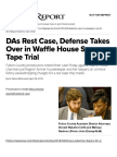 DAs Rest Case, Defense Takes Over in Waffle House Sex Tape Trial   Daily Report