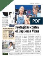 Protegidas Contra El Papiloma Virus