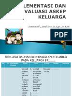 Intervensi, ImPlementasi & Evaluasi Askep Klg