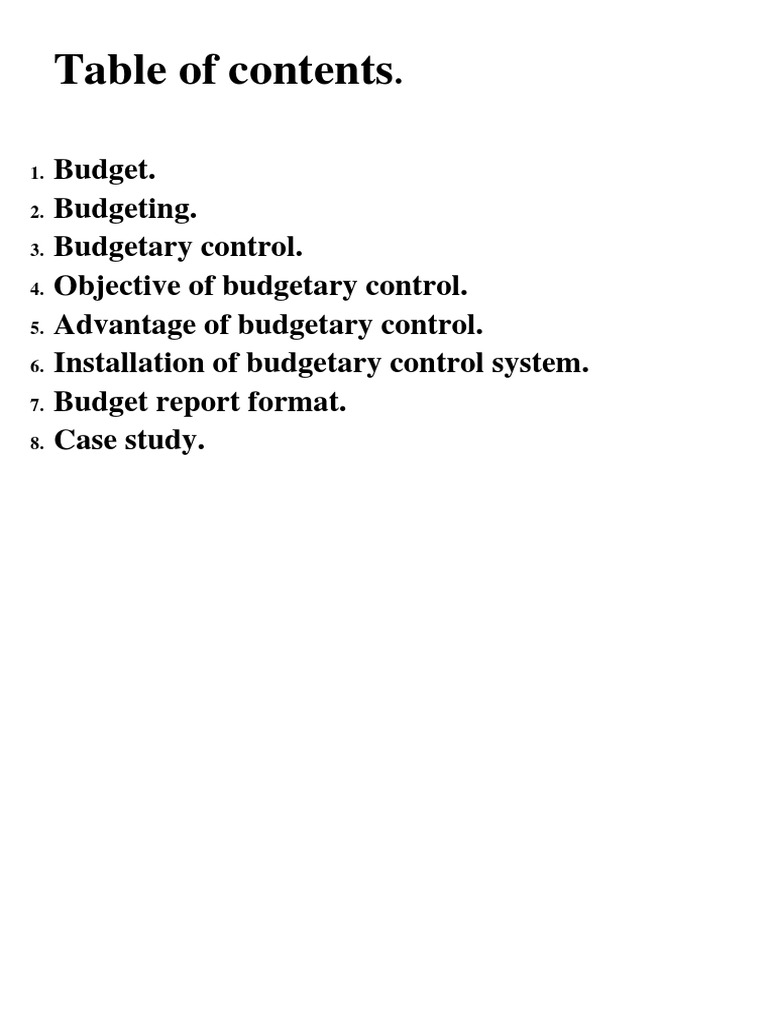 Budgetary Control and Reporting Format With Case Study | Management