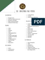 Checklist Inverno Peru