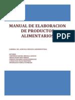 Manual de Elaboración de Productos Alimentarios