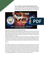 Prediksi Manchester City vs Liverpool 11 April 2018 Piala Dunia Rusia 2018