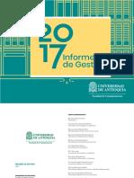 Informe de Gestion Facultad Comunicaciones Udea 2018