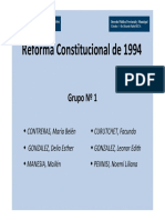 Reform a Constitucion Al 1994