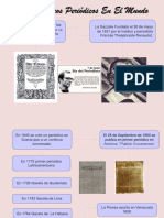 Los Primeros Periódicos en El Mundo