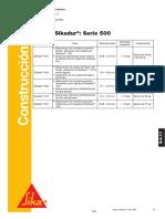 Arenas Sikadur Serie 500 - R3188.4.11.