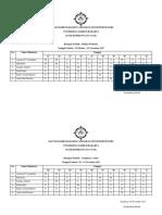 Daftar Hadir Mahasiswa Program Studi Profesi Ners